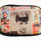 Audrey Hepburn Magazine Retro Cover Cell Mobile Phone Digital Camera Wide Case Bag