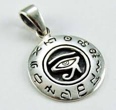 925 Sterling Silver Egyptian Eye of Horus Ra Udjat Charm Pendant