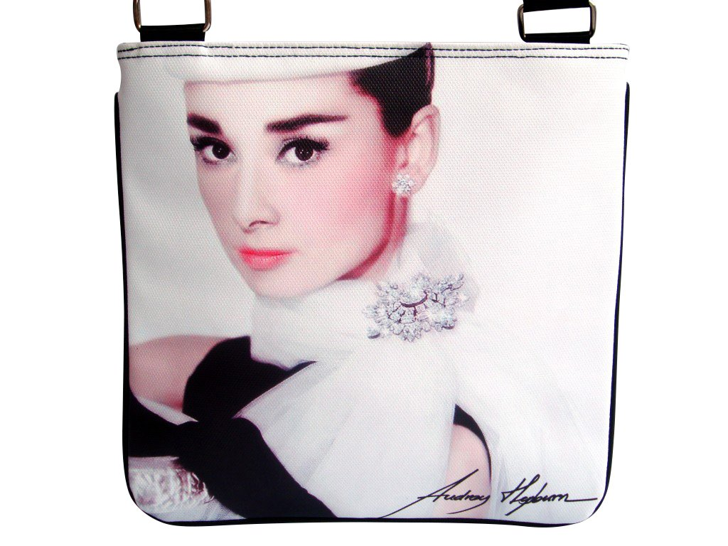 Audrey Hepburn Signature Fashion Messenger Bag Purse