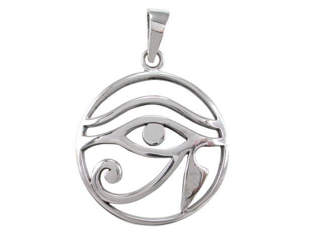 925 Sterling Silver Egyptian Eye of Horus Wedjat Wadjet Udjat Charm Pendant
