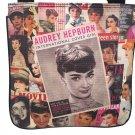 Audrey Hepburn Retro Vintage Photo Collage Magazine Sling Cross Body Messenger Bag Purse