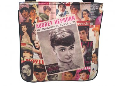 Audrey Hepburn Retro Vintage Photo Collage Magazine Sling Cross Body Messenger Bag Purse