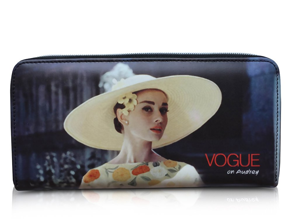 "Audrey Hepburn ""Vogue on Audrey"" Credit Card Money ID Holder Clutch Wallet Purse Bag"
