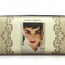Audrey Hepburn Signature Cinema Icon Rare Money ID Holder Clutch Wallet Purse Bag