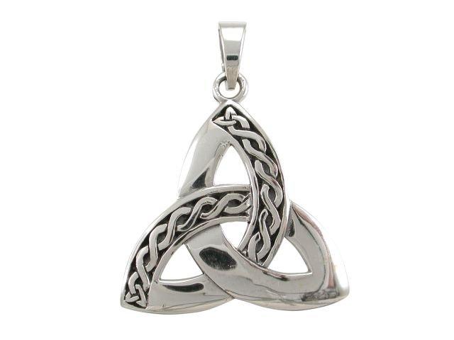 925 Sterling Silver Celtic Irish Infinity Knots Trinity Triquetra Knot Charm Pendant