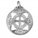 925 Sterling Silver Celtic Knights Templar Iron Cross Norse Runes Runic Charm Pendant