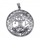 925 Sterling Silver Tree of Life Celtic Infinity Knots Round Charm Pendant