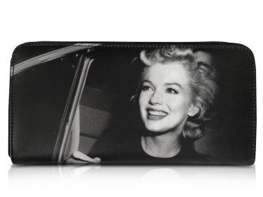 Marilyn Monroe In Car Retro Rare Picture Money ID Holder Clutch Black Wallet Purse Bag