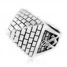 925 Sterling Silver Freemason Masonic Mason Freemasonry Illuminati Square Pyramid Ring