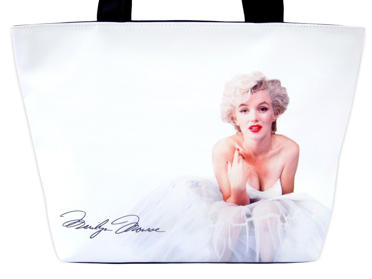 Marilyn Monroe Ballerina Hollywood Tote Shoulder White Bag Purse