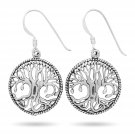 925 Sterling Silver Yggdrasil Norse Tree of Life Viking Shieldmaiden Earrings Set