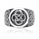 925 Sterling Silver Viking Midgard Jormungand Ouroboros Mammen Style Ring