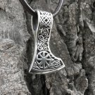 925 Sterling Silver Viking Slavic Kolovrat Sun Wheel Perun Axe Double Sided Pendant