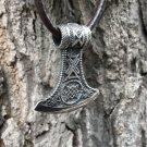 925 Sterling Silver Viking Knotwork Axe Double Sided Amulet Pendant