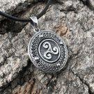 925 Sterling Silver Celtic Triskele Triskelion Viking Pagan Amulet Pendant