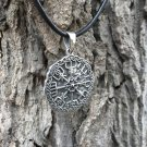 925 Sterling Silver Viking Vegvisir Compass Celtic Knotwork Legendary Pendant