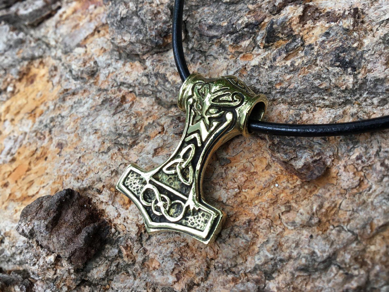 Brass Thor Pendant Mjolnir Viking Pendant