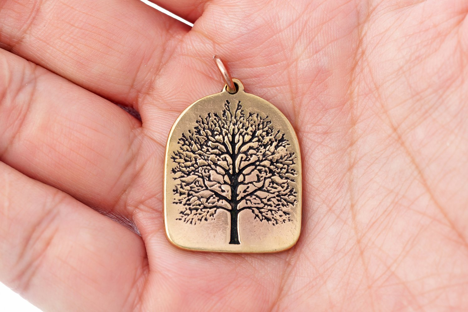 Handcrafted Bronze Viking Tree of Life Yggdrasil Antique Finish Pendant
