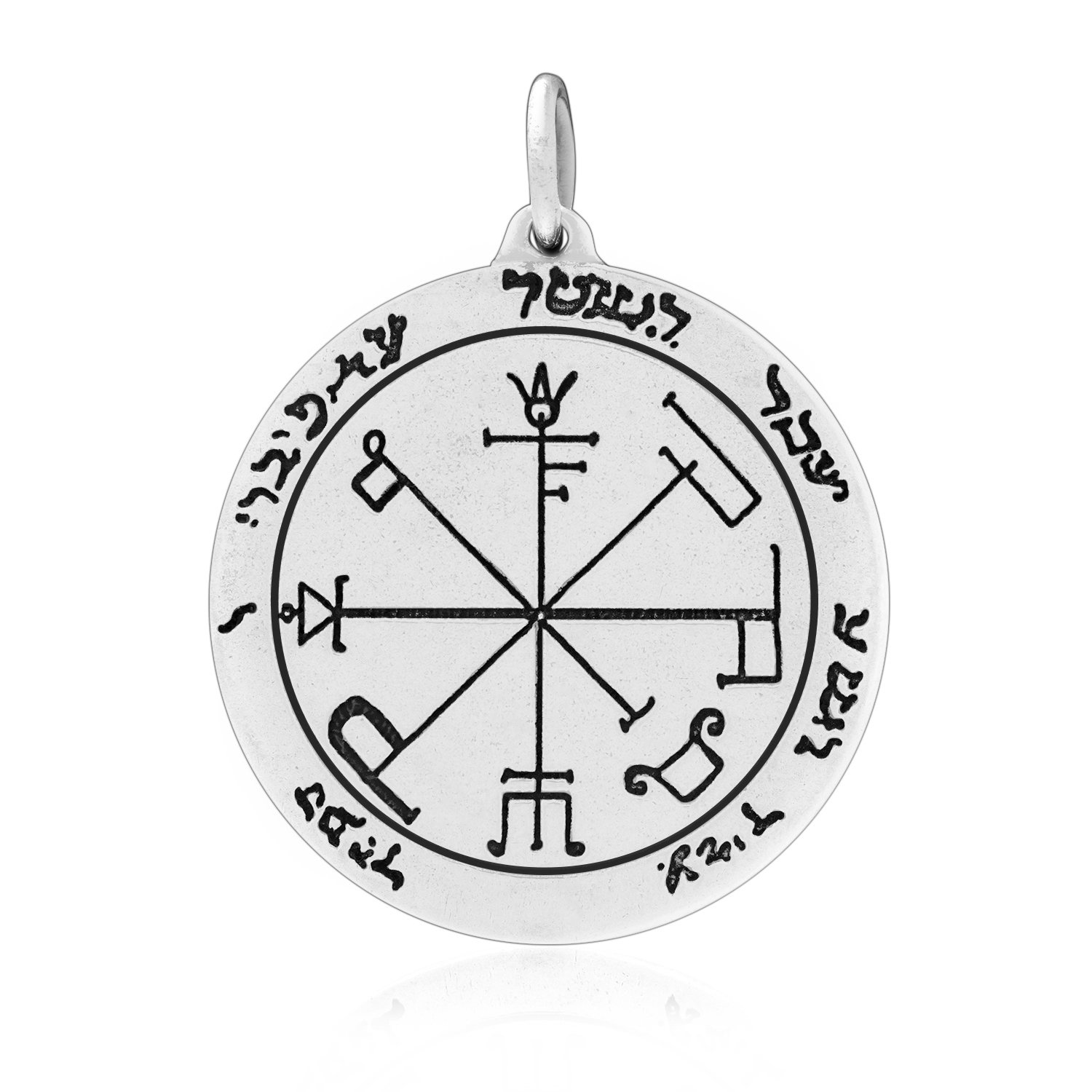 Sterling Silver The Sixth Pentacle of Saturn Key Seal of Solomon Talisman Protection Pendant
