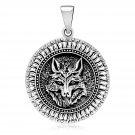 925 Sterling Silver Viking Wolf Fenrir Amulet Pagan Norse Pendant