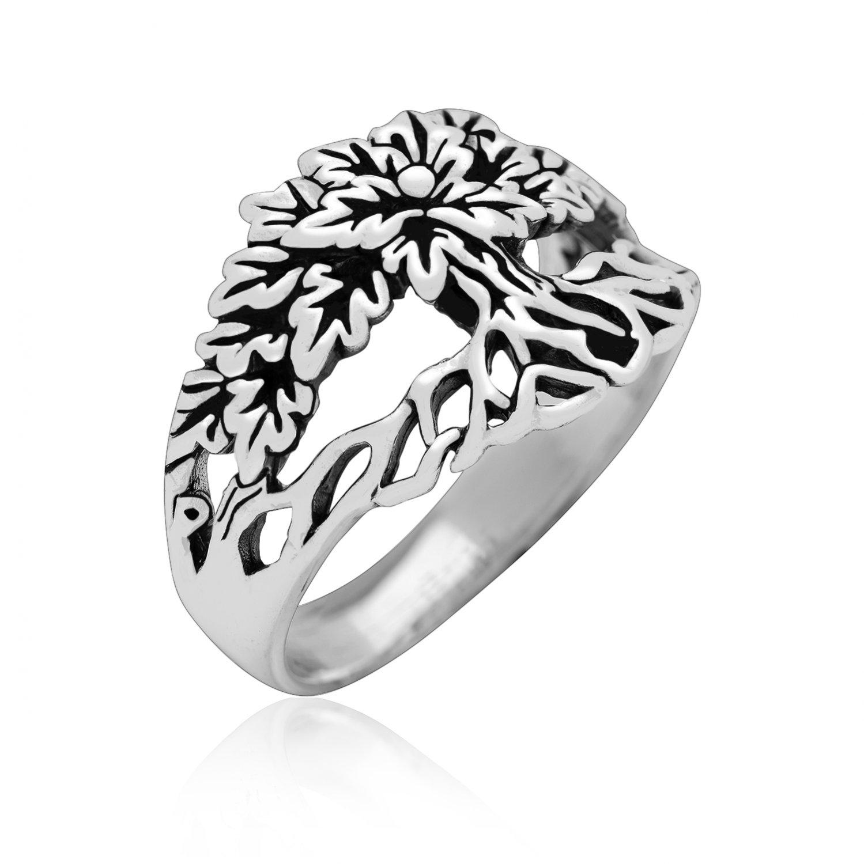 925 Sterling Silver Tree of Life Viking Yggdrasil Pagan Unisex Ring