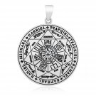 925 Sterling Silver The Seal of the Seven Archangels Judaica Solomon Kabbalah Pendant