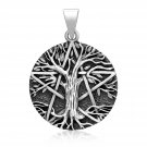 925 Sterling Silver Celtic Tree of Life Viking Yggdrasil Pagan Pentagram Pendant