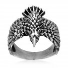 925 Sterling Silver Soaring Mighty Eagle Strength Leadership Ring