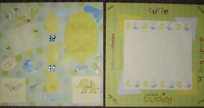 """""""Baby Boy"""" Premade 12x12 Scrapbook Pages Baby"""