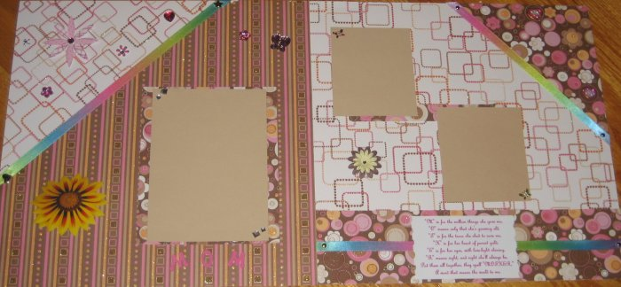 Mom / Mother Premade 12x12 Scrapbook Pages