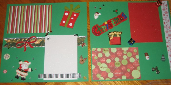 Christmas Premade 12x12 Scrapbook Pages