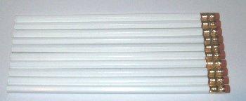 white pencils blank white pencils