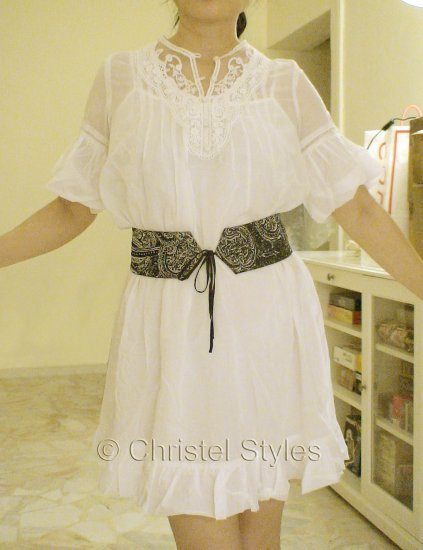NEW White Lace Cocktail Wedding Baby Doll Dress Size M