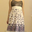 White Lilac Floral Cocktail Wedding Party Dress Size M (was $24)