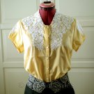 Classic Embroidered Yellow Women's Shirt Size S (was $19)