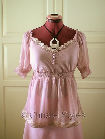 Pink Empire Baby Doll Lace Top Size S (was $18)