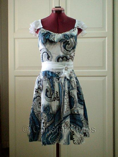 Paisley Wedding Cocktail Dress Sz S (was $26)