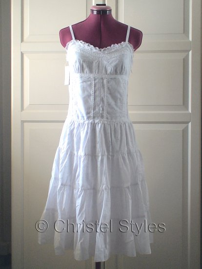 NEW Sexy White Cocktail Wedding Lace Dress Size L