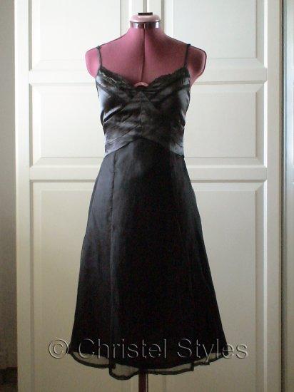 Sexy Wedding Cocktail Lace Spaghetti Silk Dress Size S (was $28)