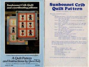 Sunbonnet Crib Quilt and Coordinating Pillows Pattern