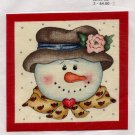 Snow Woman Fabric Applique - Iron On
