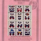 Clarke's Iron On Designs for Punch Embroidery - Pandas