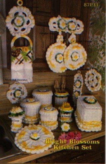 Annie S Attic Crochet Bright Blossoms Kitchen Set Patterns