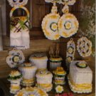 Annie's Attic Crochet Bright Blossoms Kitchen Set  Patterns 87P31