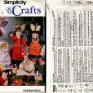 """Simplicity 7899 Cloth Dolls and Bunnies Patterns Approx 13"""" - Uncut"""
