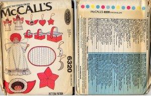 McCall's 6320 Vintage Christmas Decorations Patterns -Super Pack - Uncut