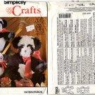 "Simplicity Crafts 7883 Panda Pattern in 3 sizes - 7"", 10"" & 16"" - Uncut"