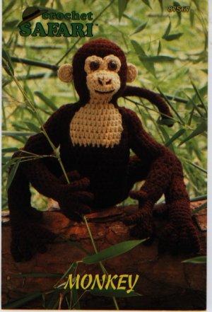 Annie's Attic Crochet Safari Monkey Pattern 87S67
