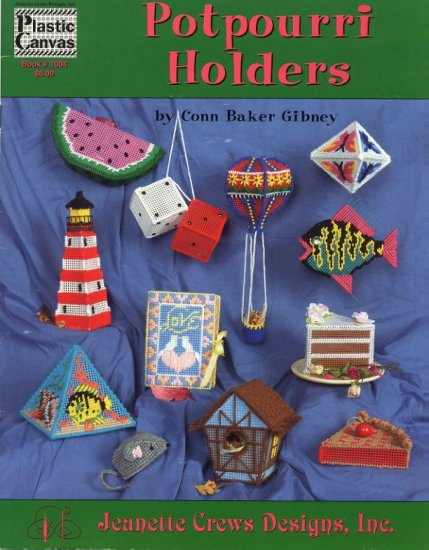 Potpourri Holders Plastic Canvas Patterns Jeanette Crews Designs
