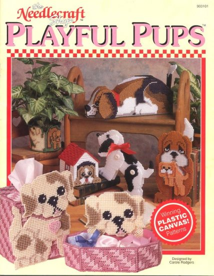 Playful Pups Patterns The Needlecraft Shop Plastic Canvas 903101